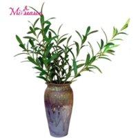 3 Tipi Zeytin Ağacı Dalları Canlı Yapay Yeşil Zeytin Yaprakları Ev Düğün Dekor için Sahte Çiçekler Noel Deocorative Bitki