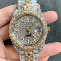 Full Diamond Mens Watch Automatic Mechanical Watches 41mm With Diamond-studded Steel 904L Women Wristwatch Bracelet Montre de Luxe High Qual