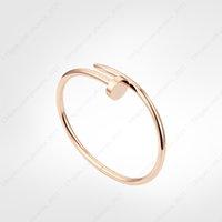 nail bracelet designer bracelet mens gold bracelet luxury jewelry women bracelets LOVE Stainless steel Gold-Plated not allergic never fade