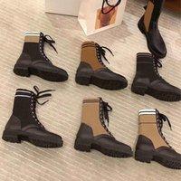 مصمم Rockoko القتالية أحذية للنساء الكاحل مارتن نيت جلد السائق تمتد النسيج إدراج الشتاء