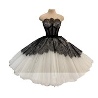 2022 Chic Black Ivory Party Dresses Ball Gown Prom Short Strapless lace-up Draped Mini Graduation Formal Evening Dress