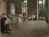 Ballet dancers Huge Oil Painting On Canvas Home Decoration H...