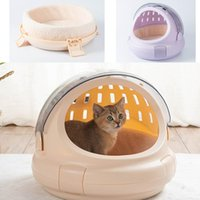Cat Carriers,Crates & Houses Multifunction Carrier Box Portable Puppy Kitten Outdoor Travel Handbag Transparent Space Small Pet Carr