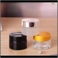 Flaschen Verpackung Büroschule Business Industrial Drop Lieferung 2021 5g / 5 ml 10g / 10ml gehobener kosmetischer Lagerbehälter Jar Face Lip Balm F