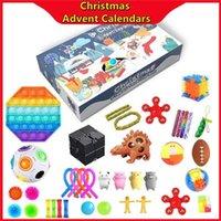 Tiktok Hot Noël Avent Calendriers sensoriels Fidget Toys Bift Box Cadeau de Noël pour enfants Enfants Poussoir Bubble Autisme Soulagement Soulagement anti-anxiété DHL Livraison DHL