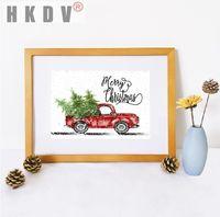 Peintures HKDV Abstrait Abstrait Pinting Poster Affiche d'impression Arbres de Noël Arbres de Noël Nordic Sofa Art Art Picture Décor pour salon Nonfamed