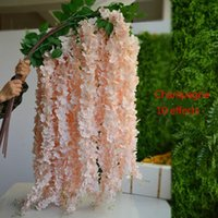 Fork Wisteria Hydrangea Simulation Flower String Wedding DIY Rattan Decorative For And Home Decor Flowers & Wreaths