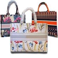12 cores mão-bordada marca high-end d saco de compras de luxo lona multi-impressão animal animal mundial bolsa senhoras