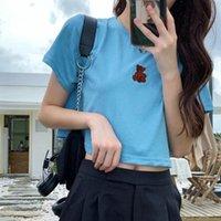Women's T-Shirt 2021 Summer T Shirts For Women Slim Short Umbilical Cord Short-sleeved Top Clothing Casual Woman Tshirts