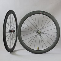 카본 자전거 바퀴 Novate D411 / D412 허브 6 볼트 또는 센터 잠금 디스크 브레이크 사이클로 크로스 3K 능직 기둥 1423 Spoke