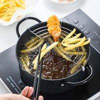 Pans Японский стиль глубокий сковородой с маслом держателя фильтра бытовой жареной кухонной кухни для кулинарии