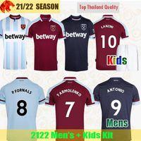 21 22 West Soccer Jerseys Ham 2021 2022 United YARMOLENKO LANZINI NOBLE BOWEN ANTONIO Football shirt FORNALS CRESSWELL Mens Jersey Kids Kit
