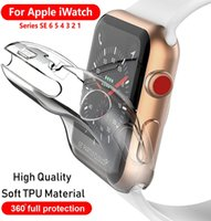 Smart Watch Cover Case For Apple iwatch SE 6 5 4 40MM 44MM Soft 360 Slim Clear TPU Screen Protector iWatch Series 3 2 1 38MM 42MM smartwatch protective