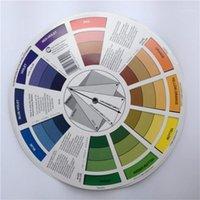 10x 문신 안료 컬러 휠 차트 용품 아트지 믹스 스튜디오 도움이되는 둥근 잉크 Wheels1