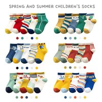 5Pairs Lot Cartoon Animal Multicolor Mesh Cotton Summer Spring Newborn Boy Kids Baby Girls Breathable Socks for 1-12T 1790 Y2