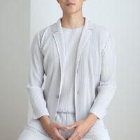 Высококачественные мужские повседневные асиси плиссированные одежды мужчин с длинным рукавом куртки японские хараджуку кардиган мужские складки