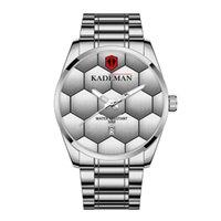 KADEMAN Brand High Definition Luminous Mens Watch Football Texture Quartz Calendar Watches Leisure Simple Stainless Steel Masculine Wristwatches