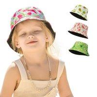 Caps & Hats Baby Bucket Hat Cotton Fisherman Kids Summer Toddler Boys Girls Panama Sun Cap Spring Autumn Thin Fruits Children 2-5years