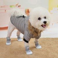 Chaqueta de abrigo de perros a prueba de viento de algodón caliente de invierno para chihuahua yorkie perro ropa de invierno ropa de mascotas 1439 v2
