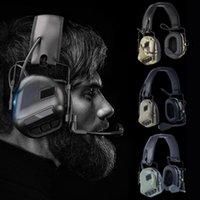Accesorios tácticos Auriculares de cancelación de ruido Militar IPSC Auriculares Sound Pickup Auricular Protección auditiva Orejeras para disparar