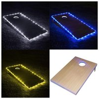 Cornhole Board Edge Night Lights Up LED Lighting Boards Kit, Long Lasting Great For Tailgates Backyard Lawn Wedding BBQ Strips