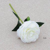Single Stem Rose Flower 30cm in lunghezza rose di seta artificiale rose di nozze festa di nozze fiori decorativi bianchi rosa rosso ewd10315