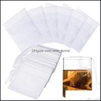 Coffee Tools Drinkware Kitchen, Dining Bar Home & Gardentea Filter Disposable Empty Infuser Bags Loose Leaf Tea Bag Dstring 5.5 X 7Cm Drop D
