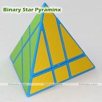 Cubos mágicos Ziicube Puzzle estrella binaria Pyramid Pegatinas 4 caras Twist Educational Juguetes Juego para niños Ningmei Cube