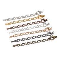 70mm TONAL EXTENSION EXTENSION Connecteur Clasps de homard de chaises à queue pour bijoux bricolage Consultations Collier Bracelet 10pcs 1375 Q2