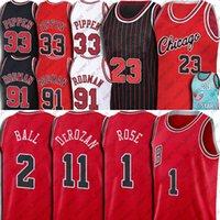 Chicagos Derrick 1 Rose Demar 11 Derozan Jersey Lonzo 2 공 23 Michael Basketball Jerseys Rackback Scottie 33 Pippen Dennis 91 Rodman 2021-2022
