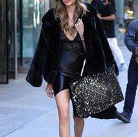 Piel de mujer Faux abrigo más tamaño mujeres invierno esponjosos peluche moda sólido solapa caliente suave ropa exterior Manteau Fourure B95R