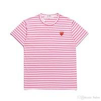 Herren Designer T-shirts C-D-G Play Comes Red Heart Sport T -Ee des Garcons Streifen Hemd Baumwolle Atmungsaktive Frauen Kleidung Sommer Unisex Low PRI