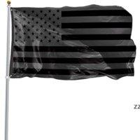 3x5ft preto bandeira americana poliéster sem trimestre será dado EUA EUA Proteção histórica bandeira bandeira bandeira dupla face ao ar livre HWA8242