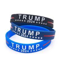 Trump 2024 Pulsera de silicona Black Blue Pulsera Favor Gyq