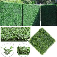 Decorative Flowers & Wreaths Green-ery Wall Backdrop- Artificial Green Plant Decor Plastic Encrypted Milan Lawn Decoration