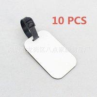 Keychains 10Pcs Thermal Transfer Blank Luggage Tag DIY Key Rings Pendant Mdf Board Heat Accessory LYY9157