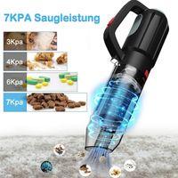 Aspiradora de mano 7000pa inalámbrica para automóvil para el hogar secado húmedo hepa filtro recargable luz de la UE enchufe