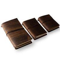 Cubierta de cuero de estilo vintage diario diario diario cadena en blanco nota náutico de notas de cuaderno de cuaderno de cuero