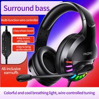 Headset Over-ear Wired Game Earphones2021 Gaming Headphones Deep Bass Stereo Casque with Microphone for GamerQ2