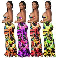 Free Ship Women Fashion Print V-neck Sleeveless Spaghetti Strap Dresses Slim Fit Bodycon Long Maxi Dress