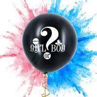 36-inch سؤال أسود مارك صبي أو فتاة wastepaper البالون الأزياء الإكسسوارات الجنس يكشف حزب الطفل استحمام 495 K2