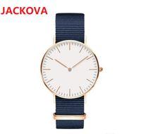 Casual Fashion Luxury Man Women Watches 40mm 36mm Relojes De Marca Mujer Lady Dress Watch Leather Nylon Strap Quartz Clock High quality wristwatch