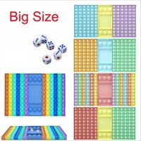 35cm Big Game Rainbow Chess Board Dekompression Spielzeug Push Blase Zappeln Sinnesspielzeug Stress Relief Interaktiv Partygame SensoryToys