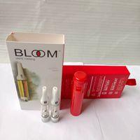 Bloom Vape Carrinho .8ml Tanque Cerâmica de Cerâmica Atomizadores Eletrônico Cigarro 510 Linha Atomizador de Óleo Grosso com Caixa de Embalagem