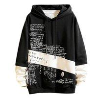 Erkek Streetwear Hoodies Yeni Stil Rahat Moda Patchwork Hip Hop Hoodie Uzun Kollu Sweatershirt Erkek Tops Tops