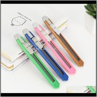 Scissors Solid Color Mini Portable Utility Knife Paper Cutter Cutting Razor Blade School Home Office Stationery Supplies Art Craft 100 Ildqp