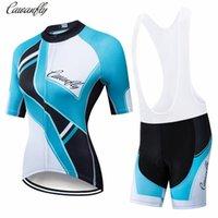 Гоночные наборы Cawanfly с коротким рукавом летом велосипедные джерси набор женщин горный велосипед одежда дышащая одежда про велосипедную одежду