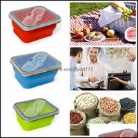 Food Savers Containers Kitchen Storage Organization Kitchen, Dining Bar Home & Garden600Ml Outdoor Portable Fold Lunch Boxs Sil Microwave Di