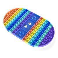 Big Game Rainbow Chest Board Keepsakes Push Bubble Fidget Toys Sensory Toys Stress Silver Interactive Party Giochi Sensory Toy 85 H1