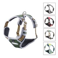 Dog Collars & Leashes Harness Adjustable No-Pull Reflective Nylon Leash Chest Strap Vest Padded For Medium Large Dogs 5